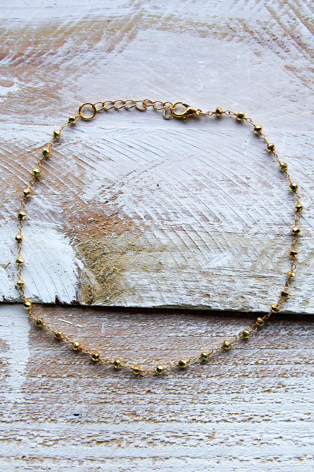 Gold on Gold Beaded Choker
