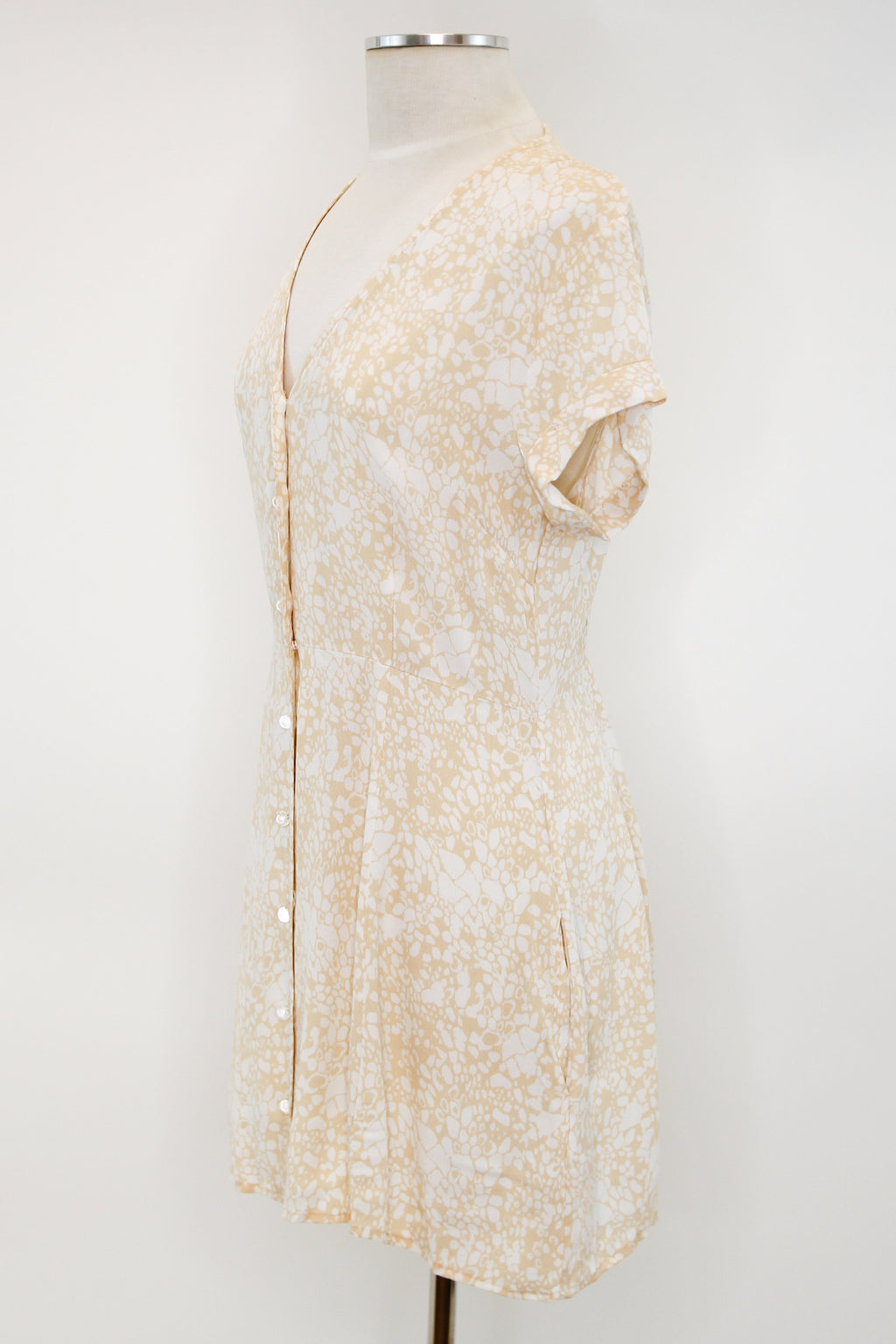 Very Vintage Dress - Beige Spotted