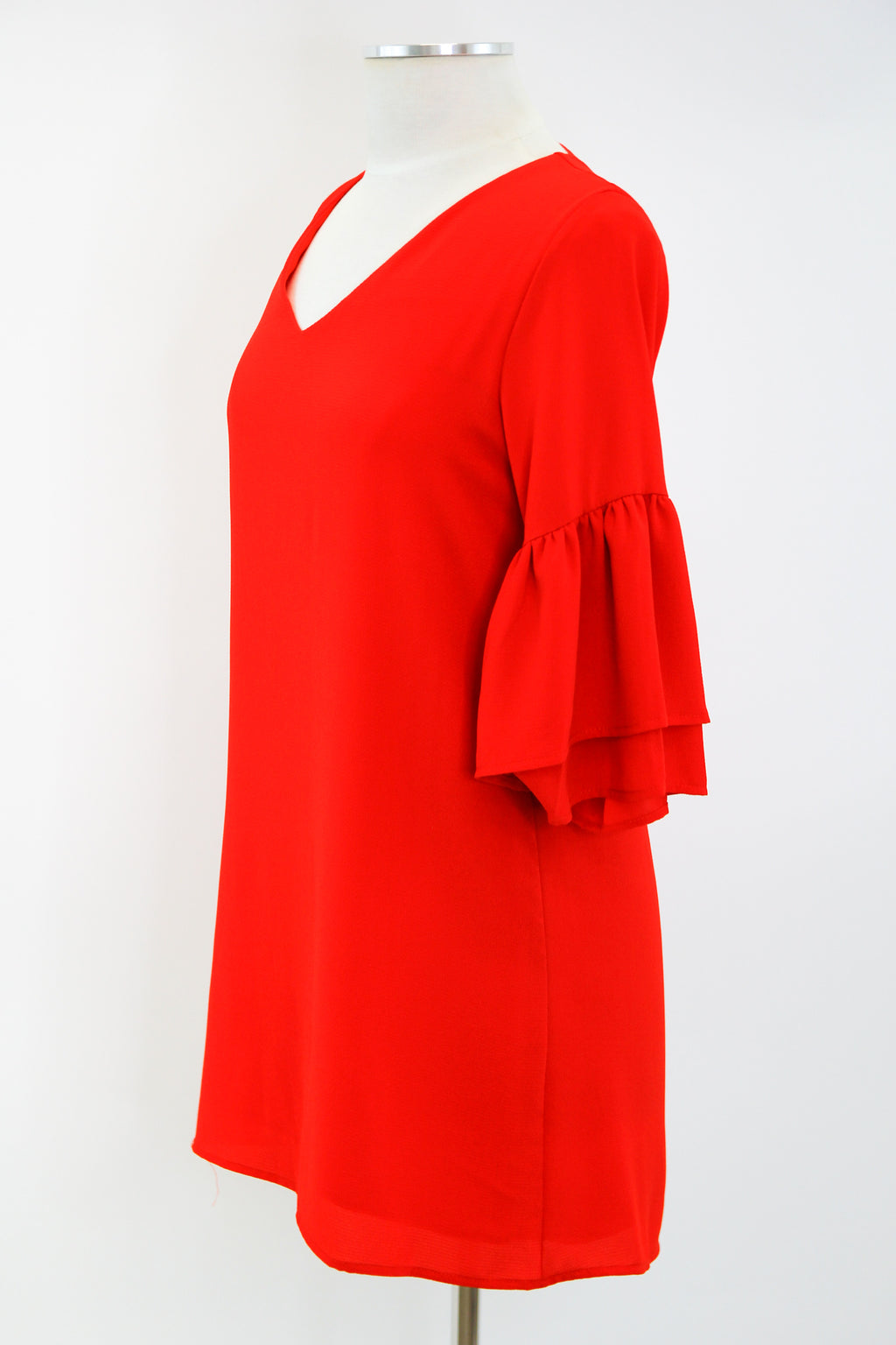 Feeling Bright Dress - Tomato Red