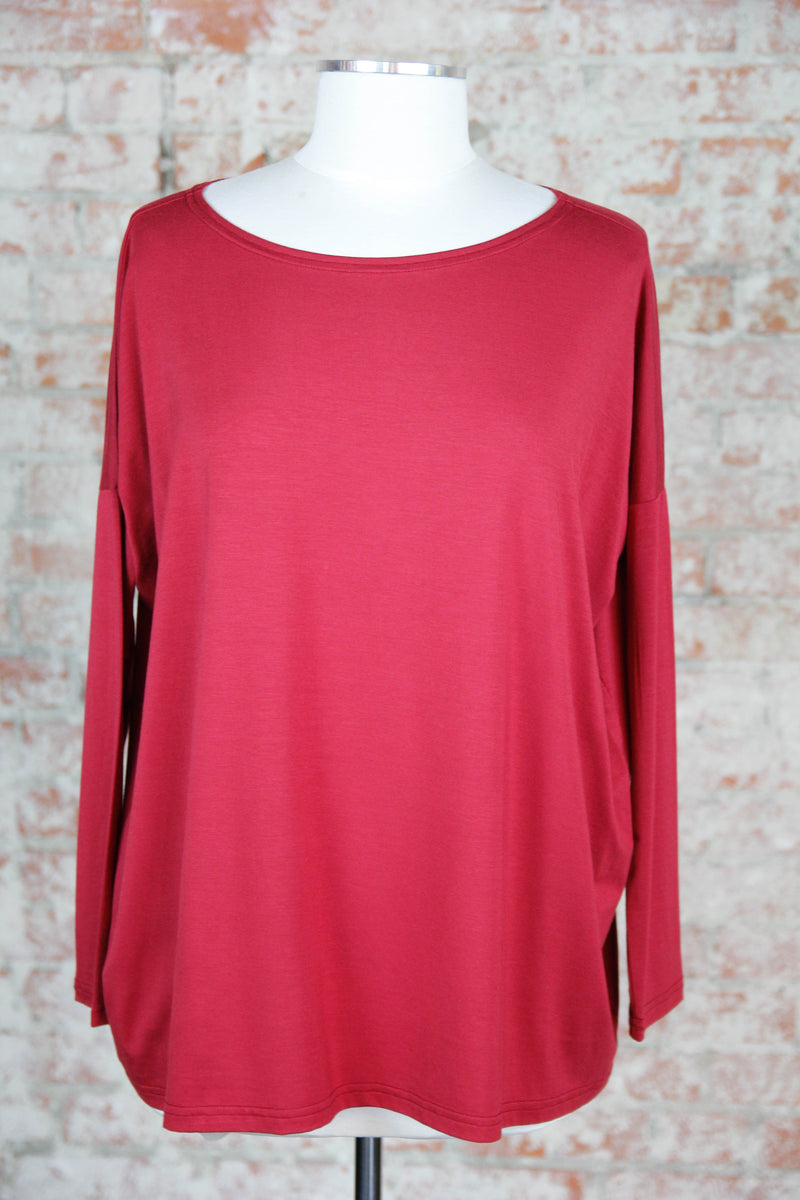 Slouchy & Comfy Top - Wine