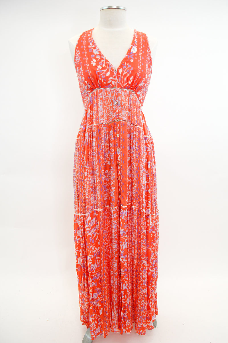 Craving A Breeze Maxi Dress - Coral