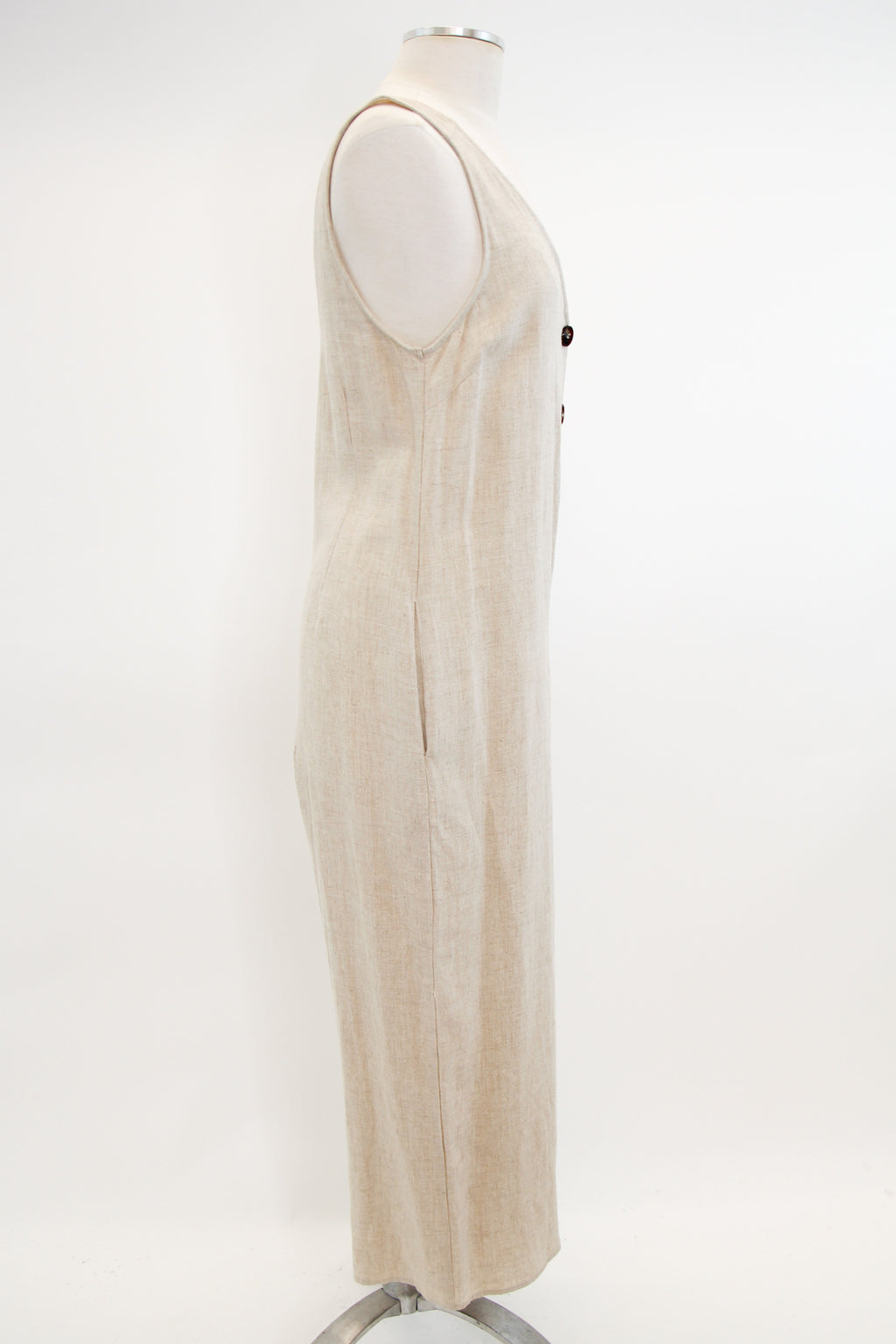 Throw It In Neutral Jumpsuit - Natural