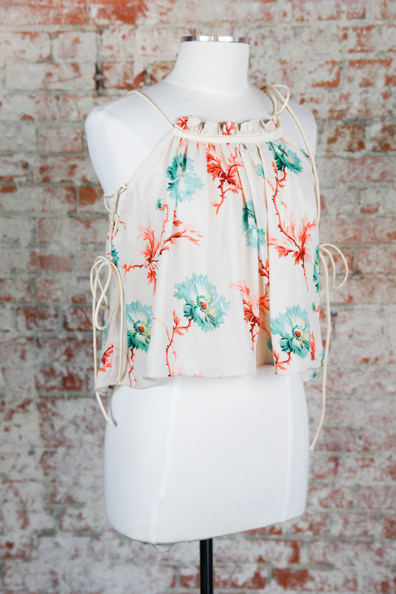 All Tied Up Floral Halter Top