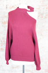 Show Me Shoulder Sweater - Burgundy
