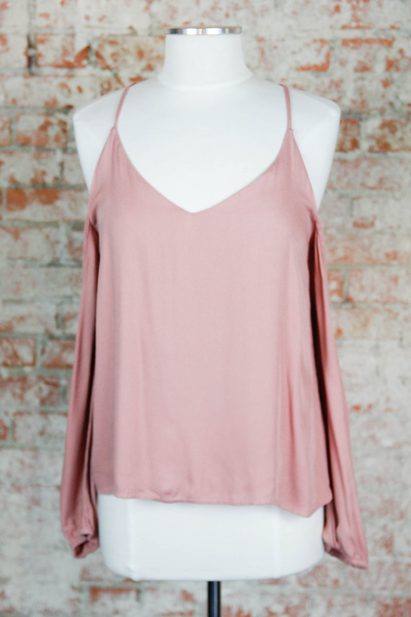 Rose Cold Shoulder Top