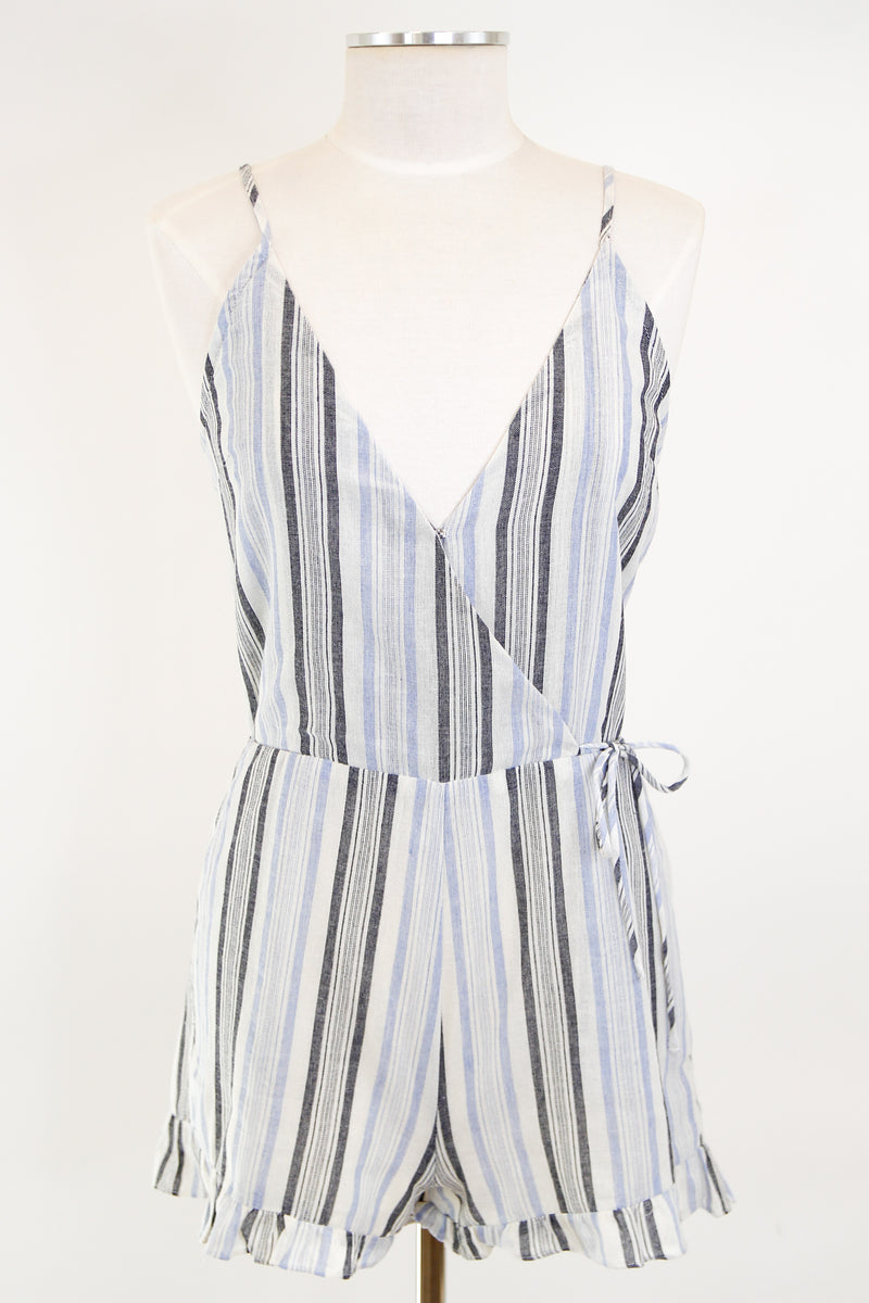 Cloudy Day Romper - Light Blue