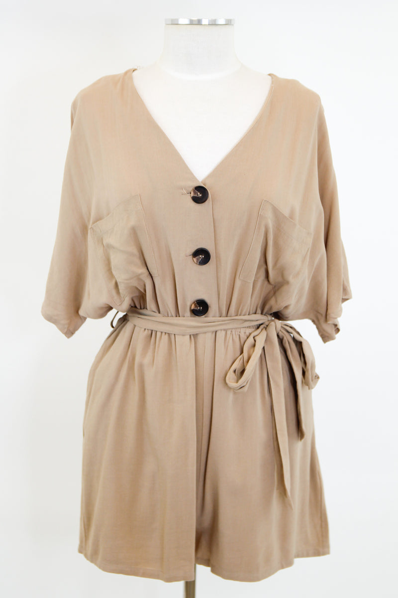 Modern Moves Romper - Khaki