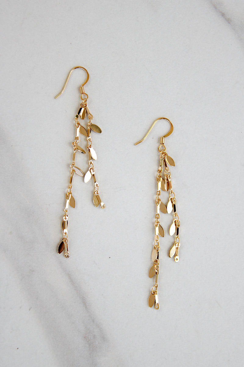 Gold Dollop Earrings