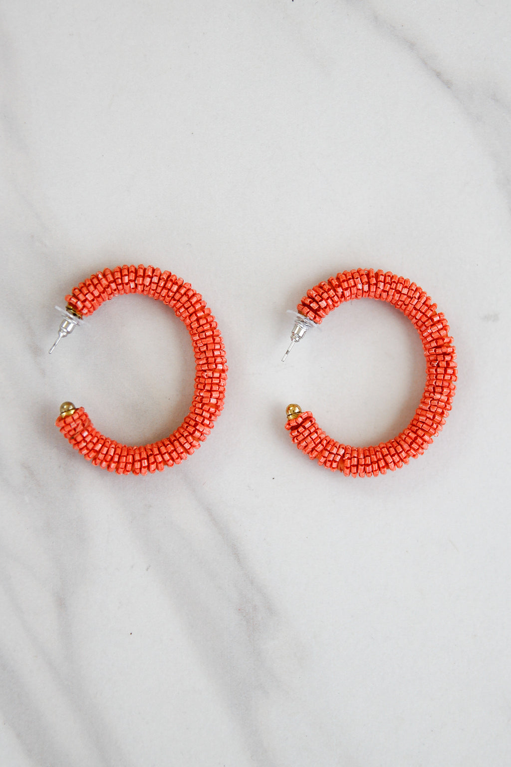 Sunset On The Bay Earrings - Coral