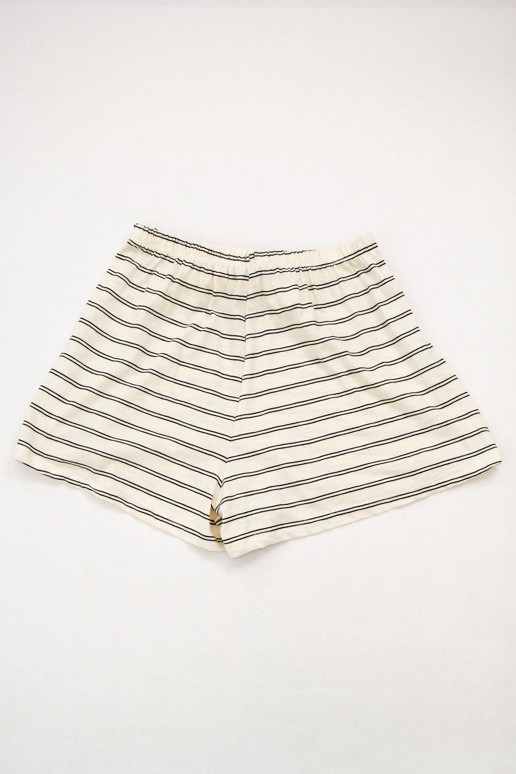 Cozy Striped Shorts - Cream
