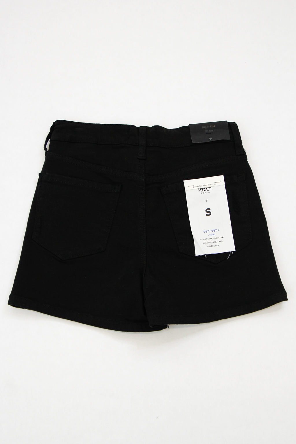 Vervet Denim Shorts - Jet Black