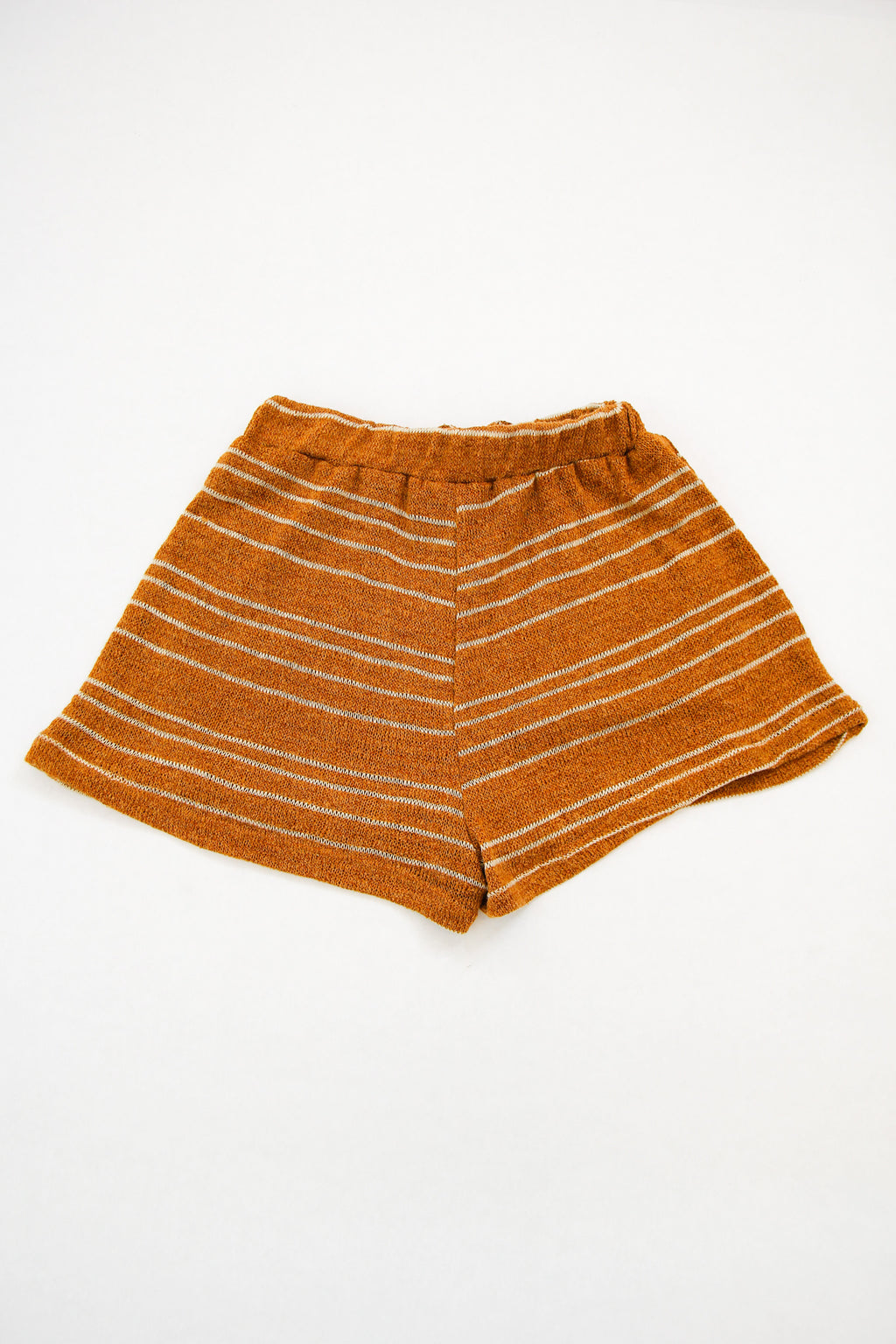 Camel Cozy Knit Shorts