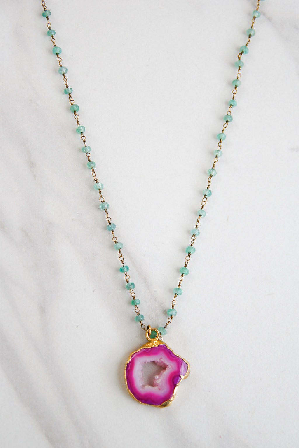 Raspberry Crystal Dazzler Necklace