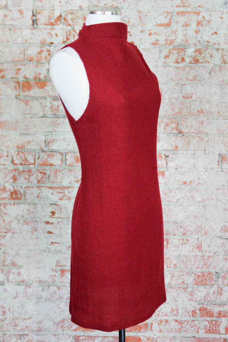Red Thermal Fitted Dress