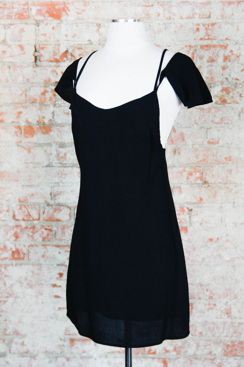 Black A-Line Fitted Dress