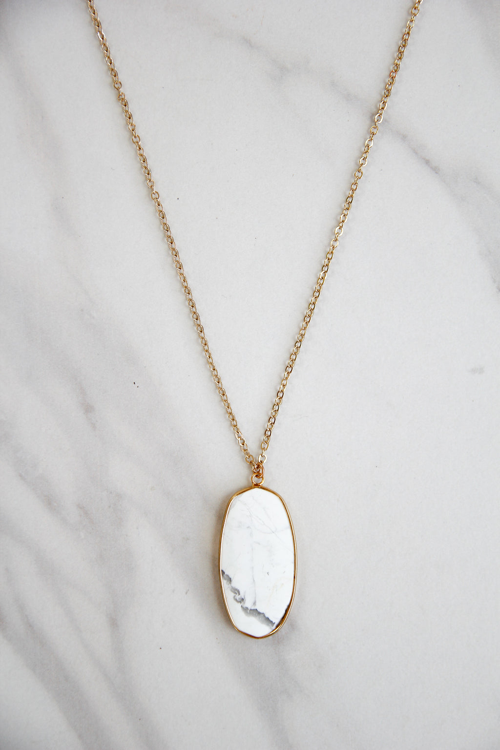 Chelsea Necklace - Marble
