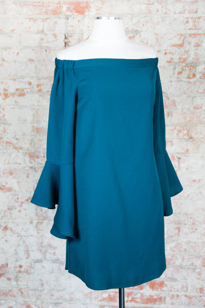 Teal Break Through Top