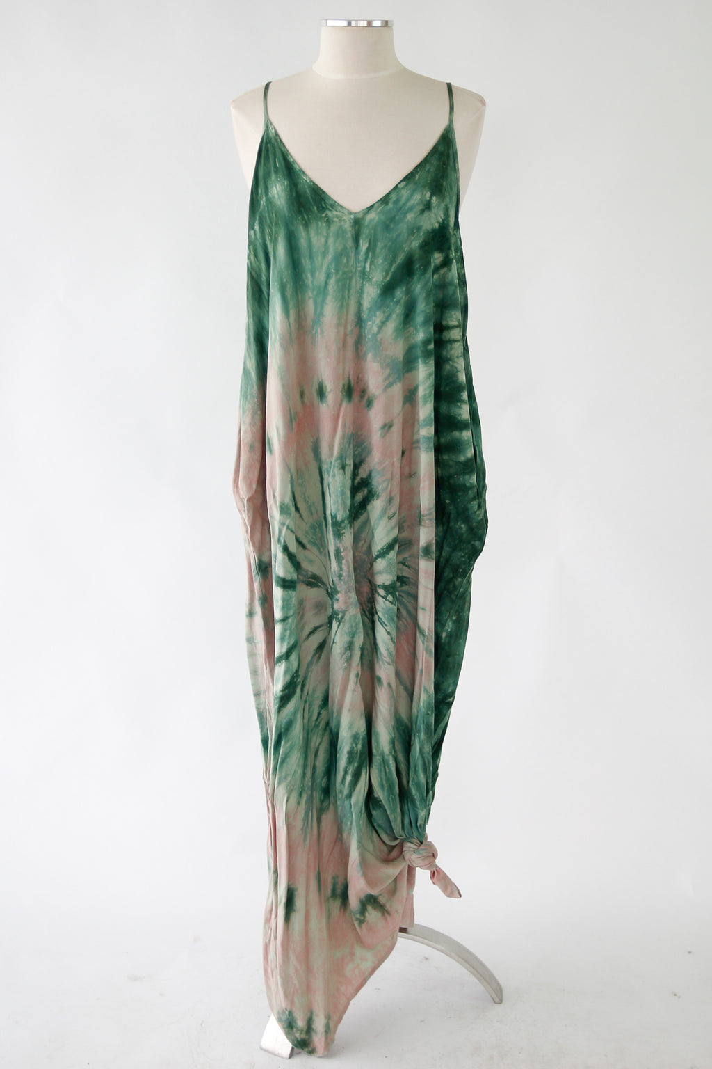 That 70s Maxi Dress - Forest & Pink
