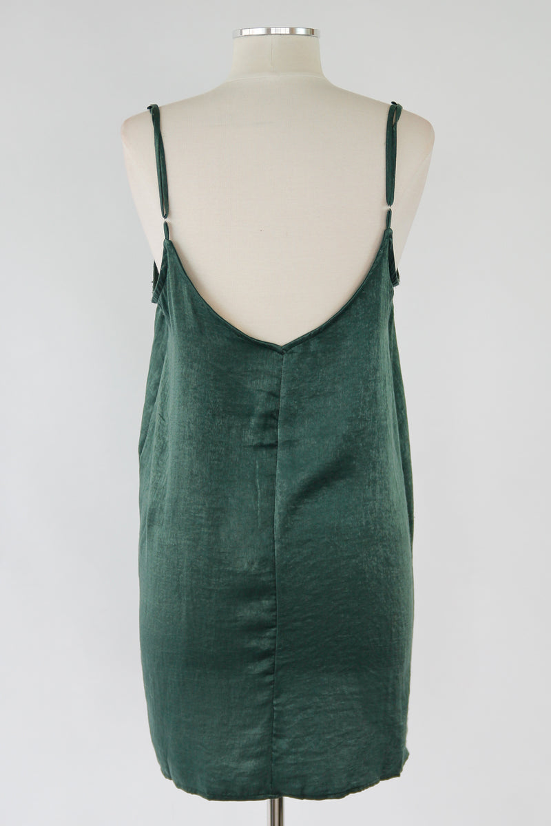 2b132bee6643 Basic Slip Dress - Hunter Green – The Impeccable Pig