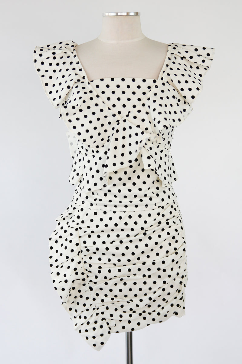 Polka Dot Darling Set - White