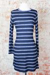 Navy Stripe Fitted Dress
