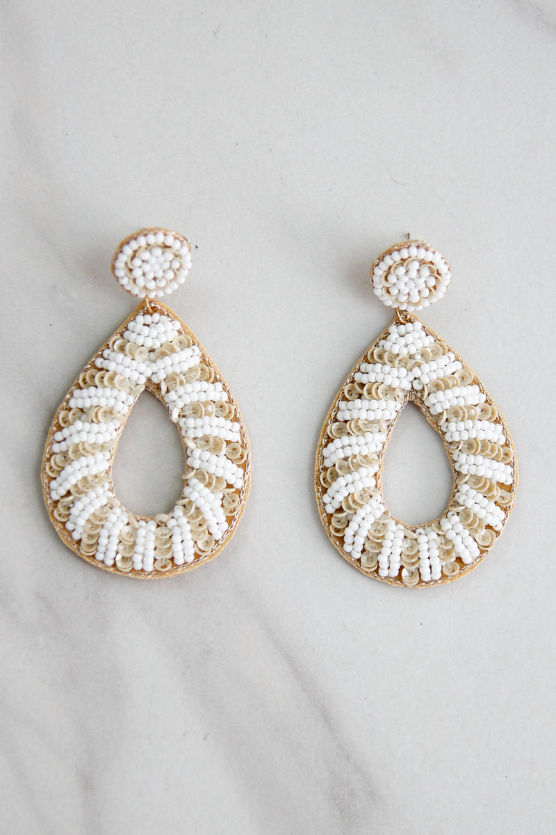 Salt & Sand Earrings - White