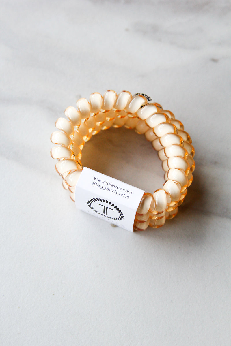 Teleties Large Hair Ties - Almond Beige
