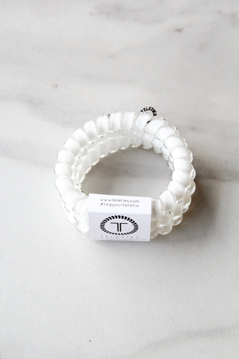 Teleties Large Hair Ties - Coconut White – The Impeccable Pig 81eab62f8c3