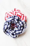 Gingham Hair Scrunchy - Blue