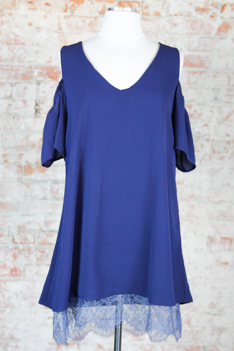 Navy Laced edges Dress