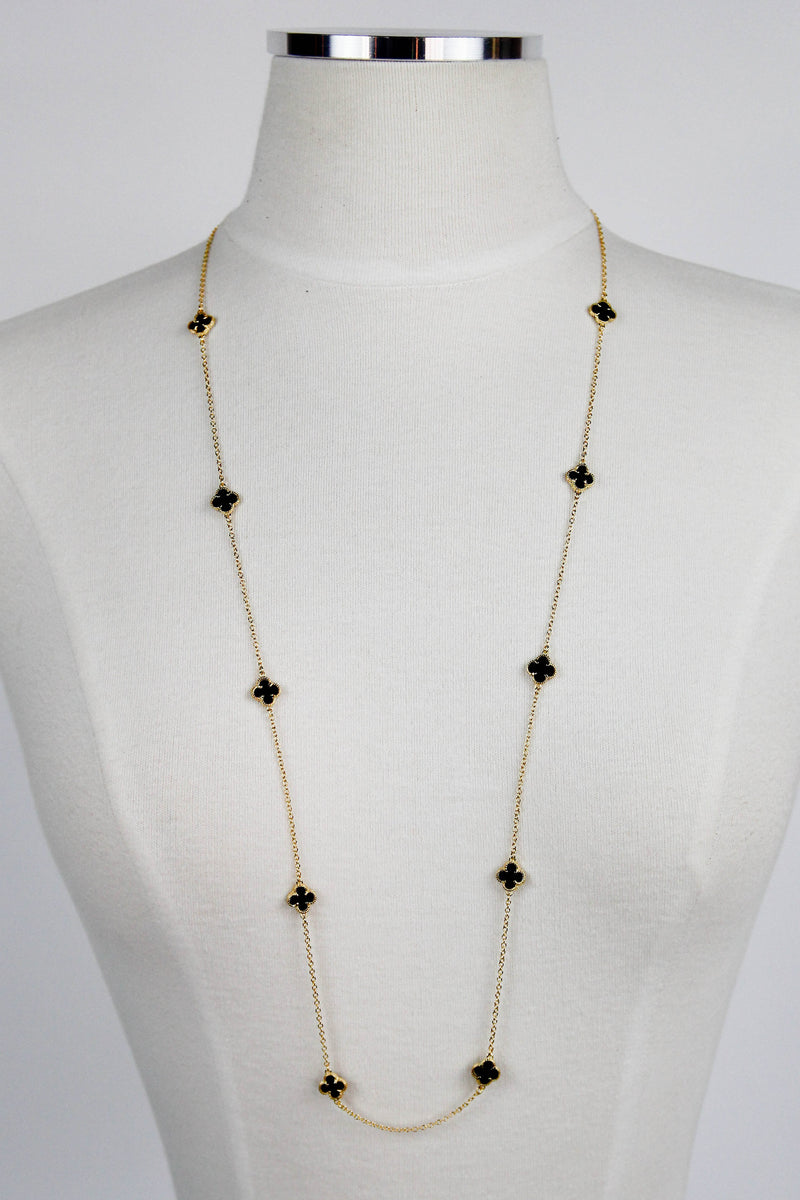 Black Clover Long Necklace