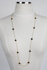All over Clover necklace - Black