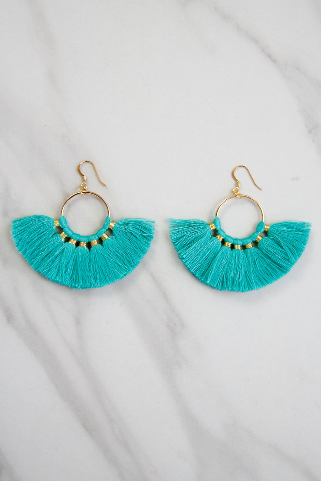 Small Fanfare Earrings - Turquoise