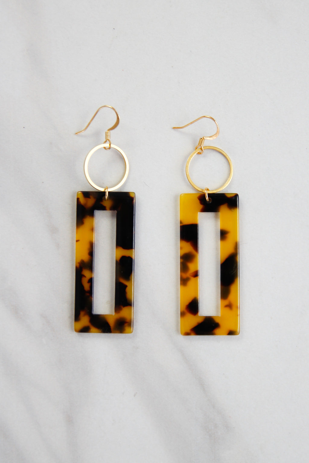 Tortoise Acrylic Drop Earrings