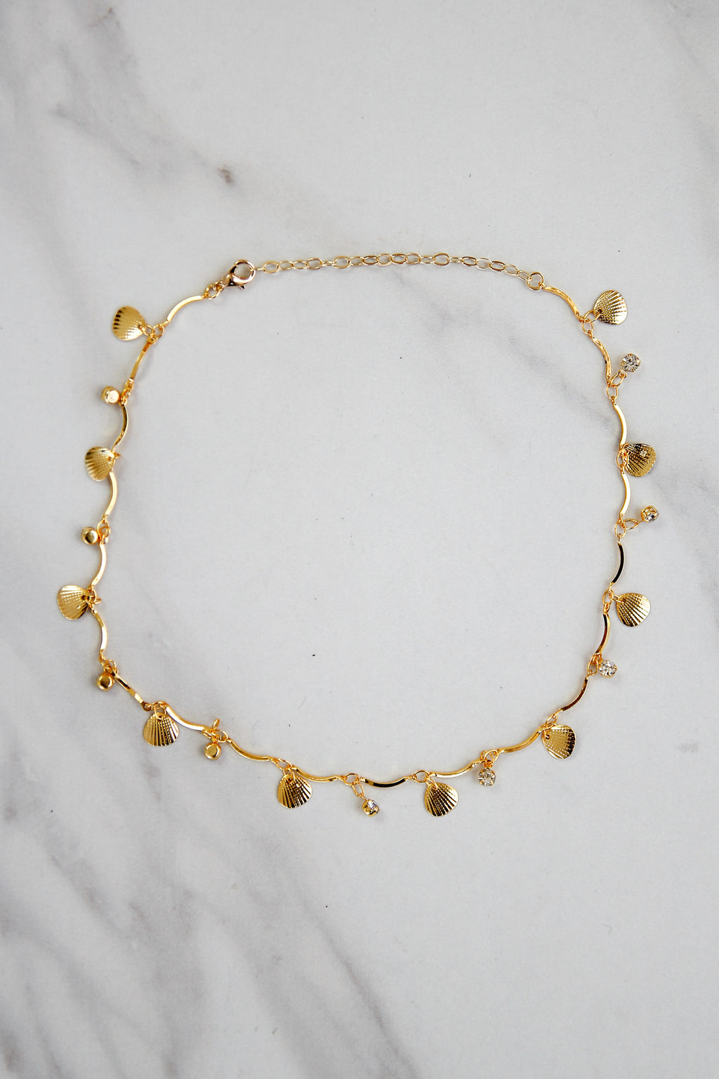 Sally Shell Choker - Gold