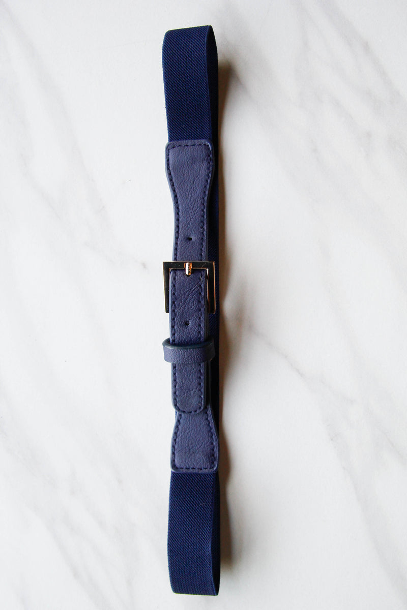 Navy Stretch Belt