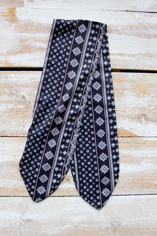 Printed Neck Tie- Navy