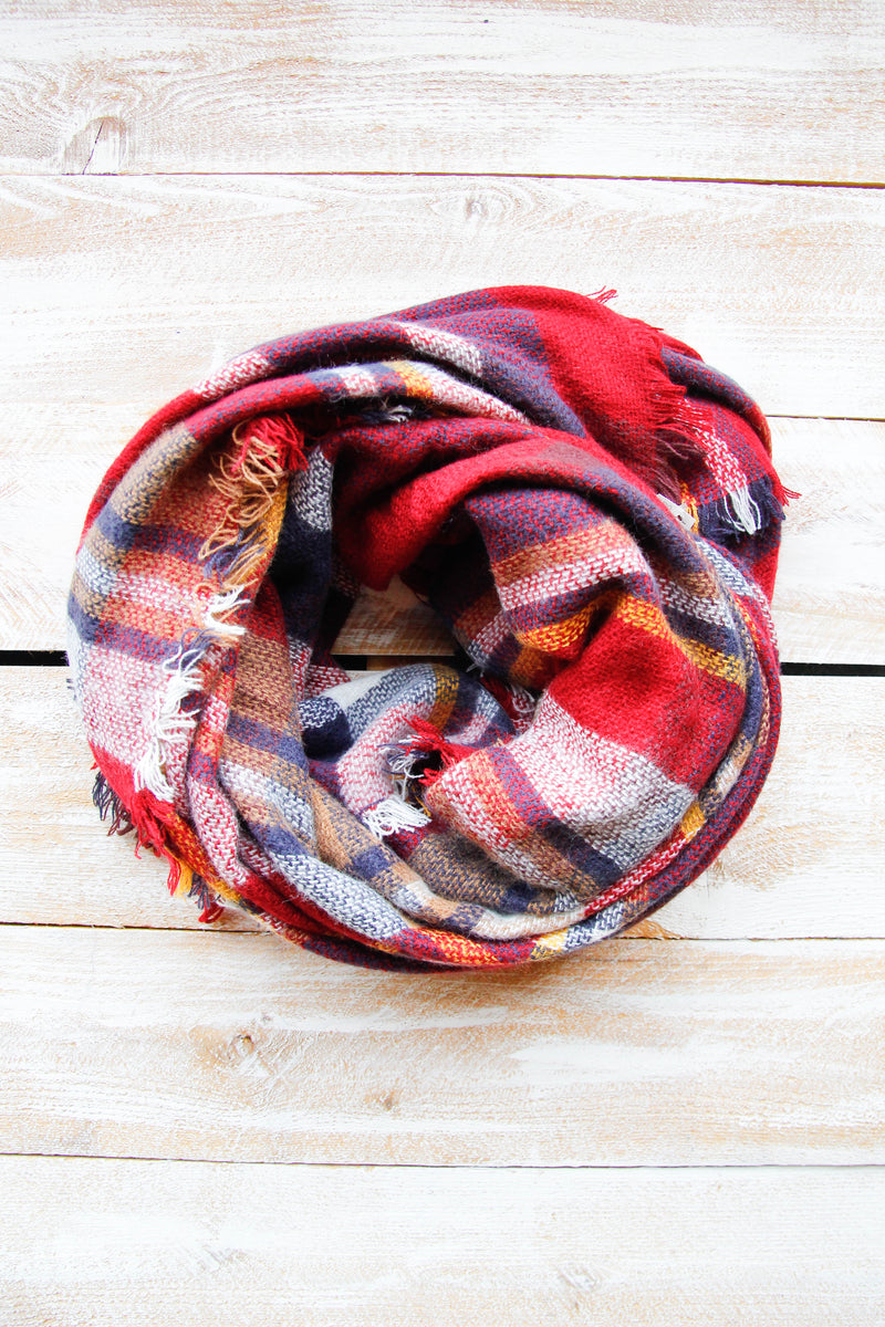 Fall For You Plaid Scarf