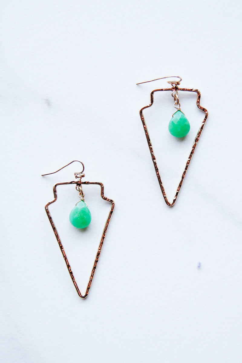 Triangle hammered Edges Earrings