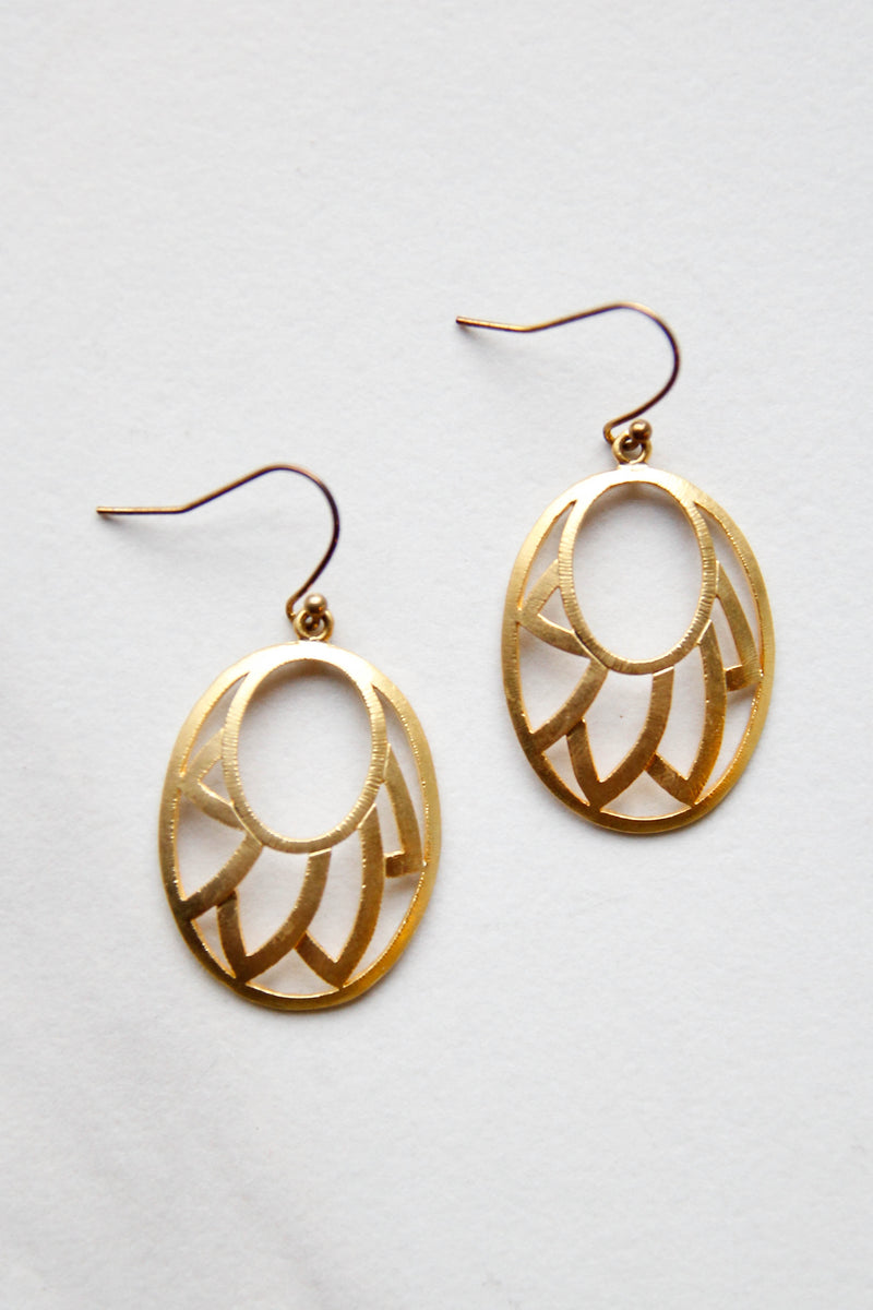 Gold Antique Earrings