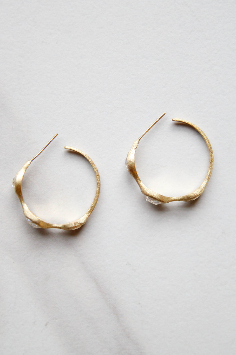Translucent Stone Hoops