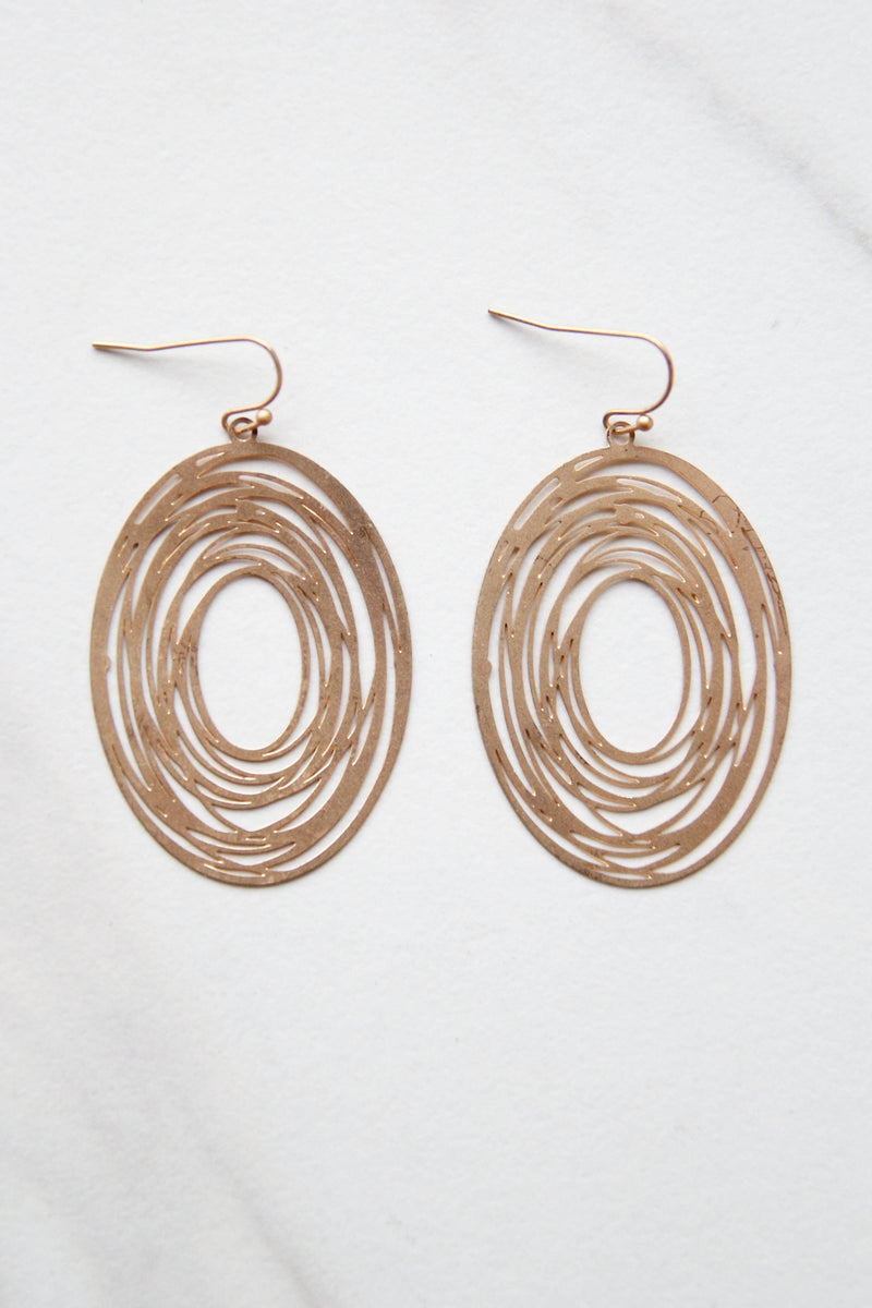 Abstract Layered Gold Earrings