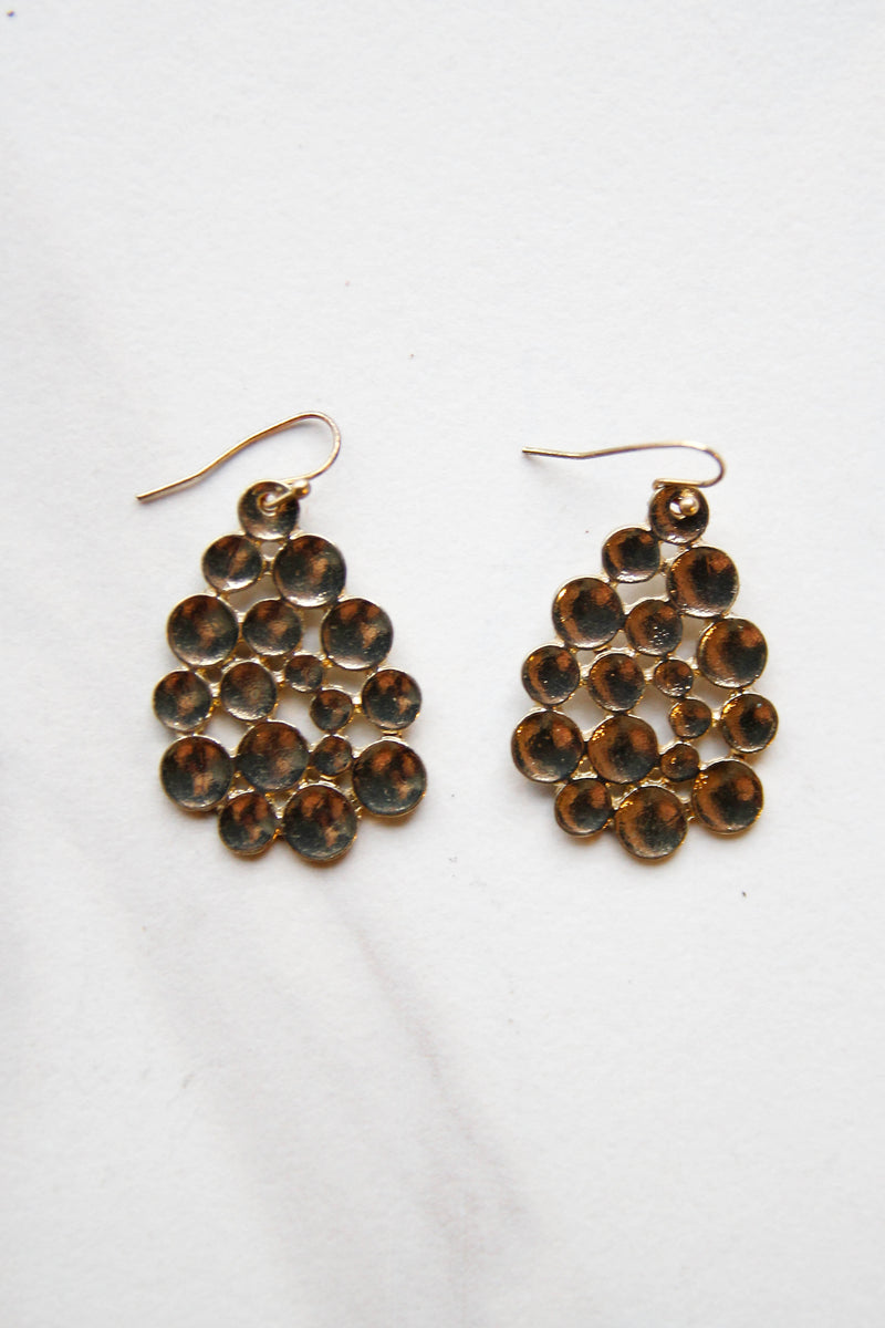 Gold Round About Earrings