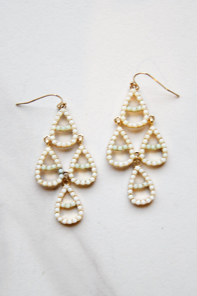 Tiered Mint Earrings