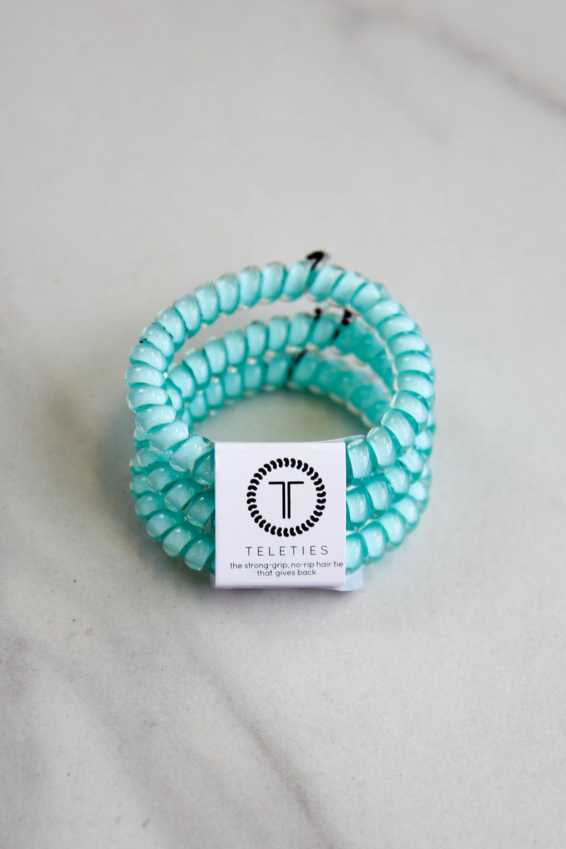 Teleties Small Hair Ties - Turquoise & Caicos