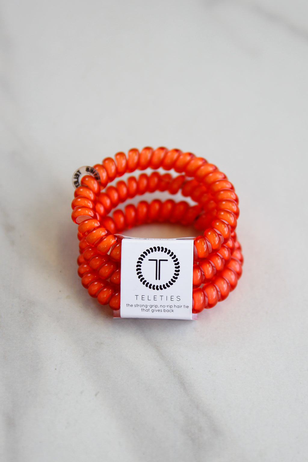 Teleties Small Hair Ties - Coral
