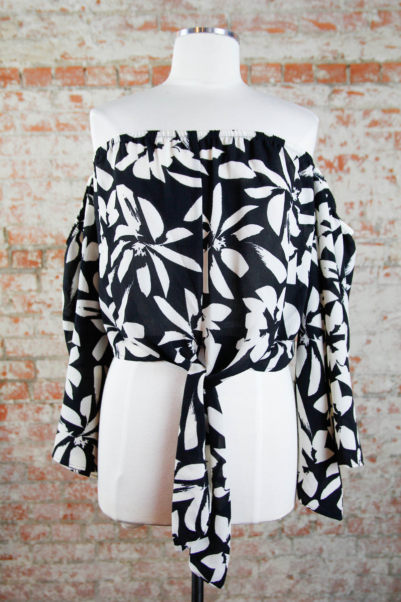 Black Exotic Forest Top