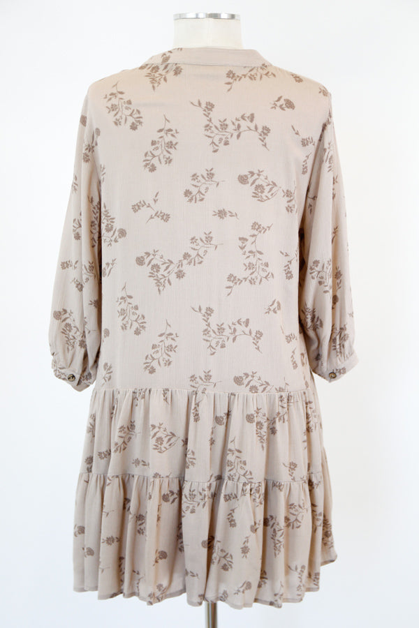 Spring Neutrals Dress - Frosted Almond