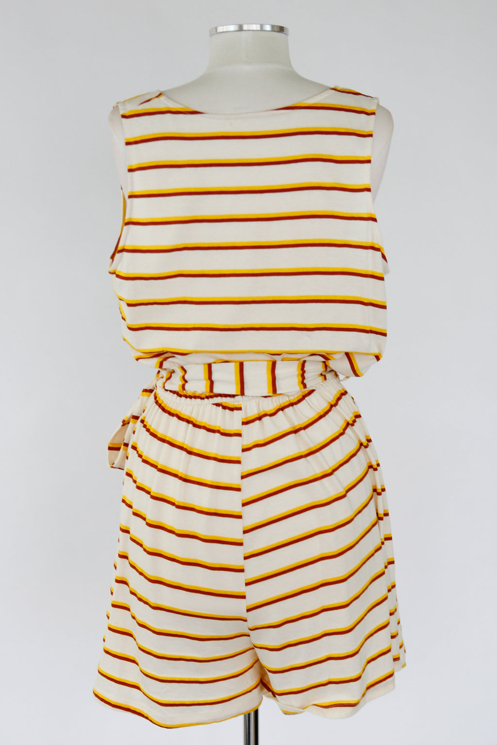 Summer BBQ Romper - Yellow