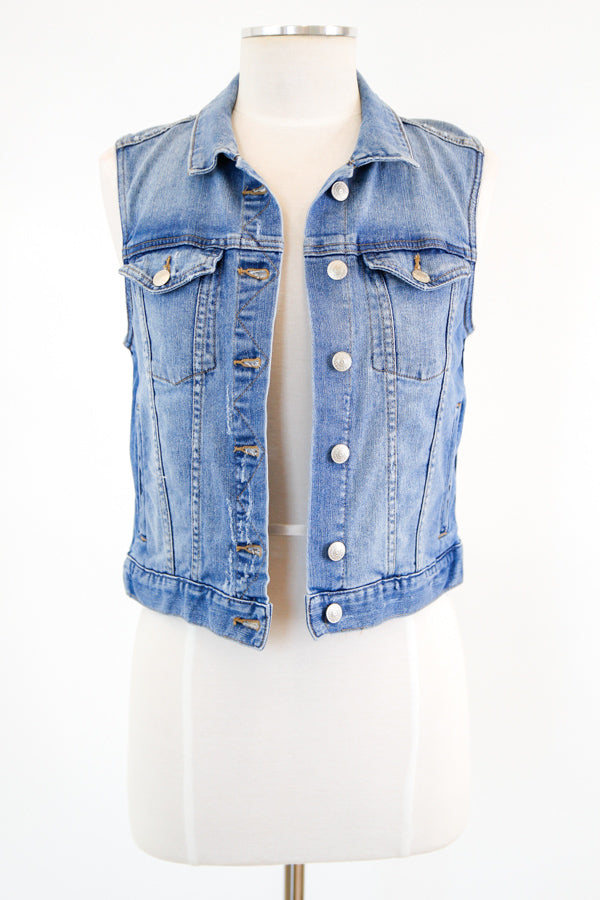 In My Best Denim Vest - Medium Wash